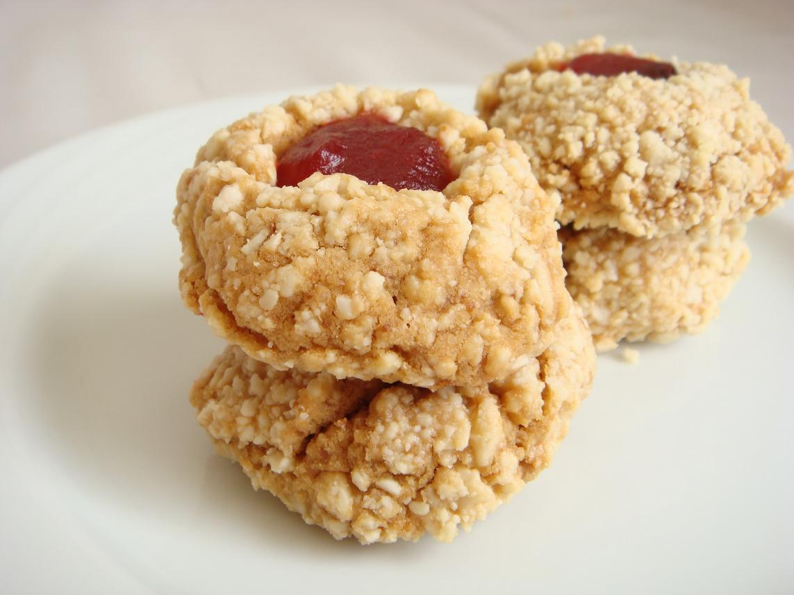 ... and J – in cookie form. Strawberry Thumbprint Cookies | Crustabakes