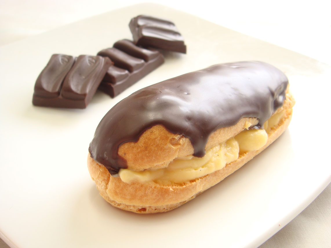... to make these eclairs, since they are both made of choux pastries