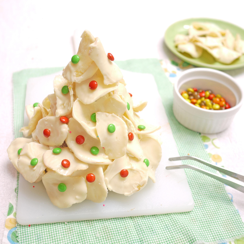 Christmas Tree Chocolate Chip Cookies