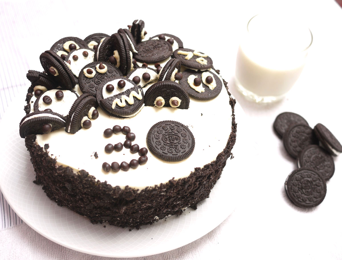 Pastel Decorado Con Galletas Oreo