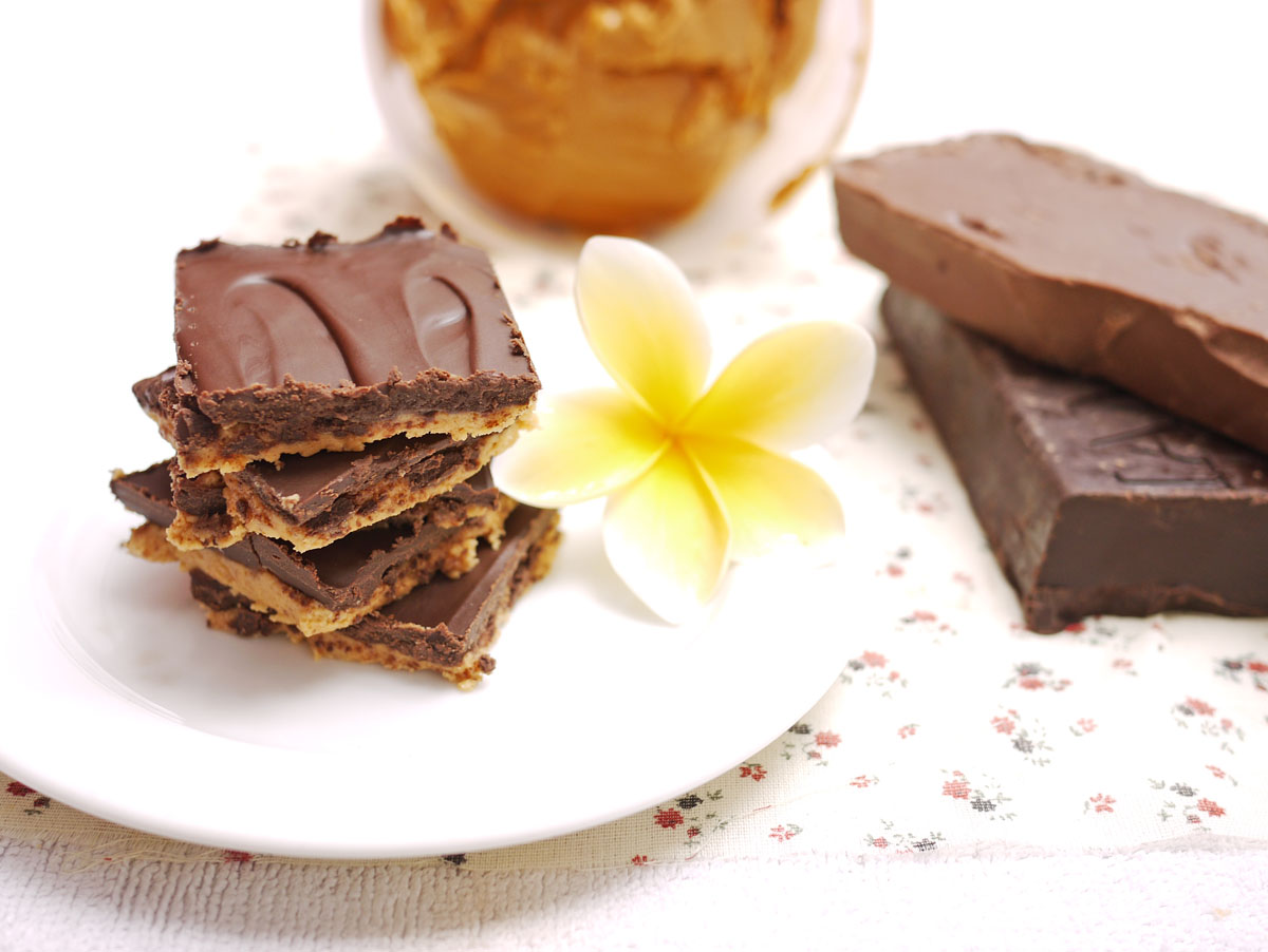 chocolate peanut butter squares 3