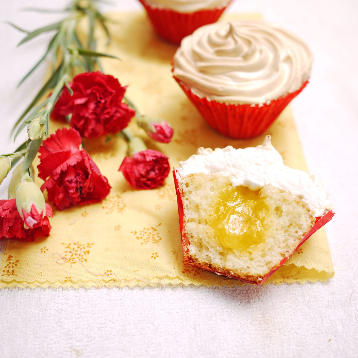 ... featured in the first mystery box challenge -Lemon meringue cupcakes