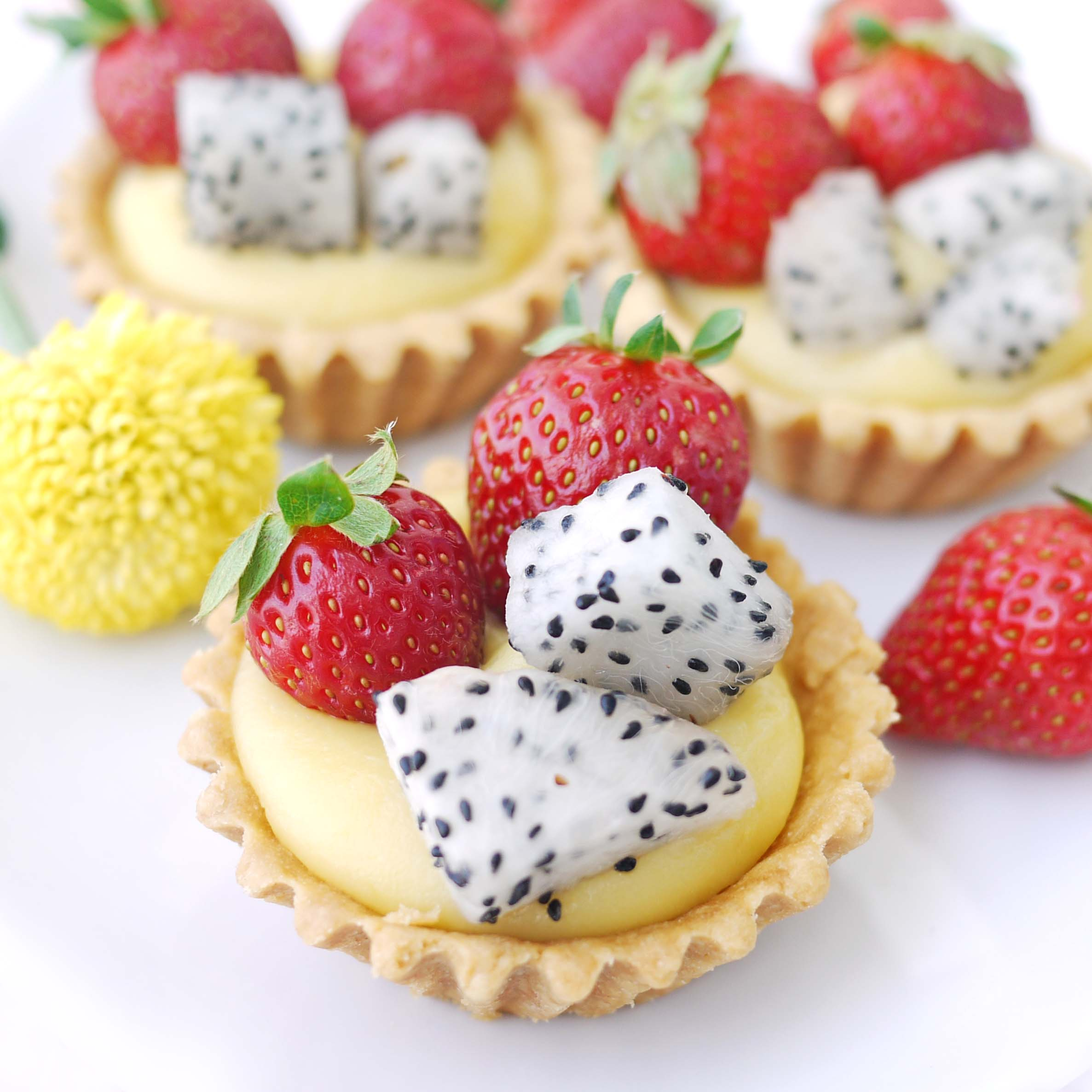 palm fruit healthy fruit tart