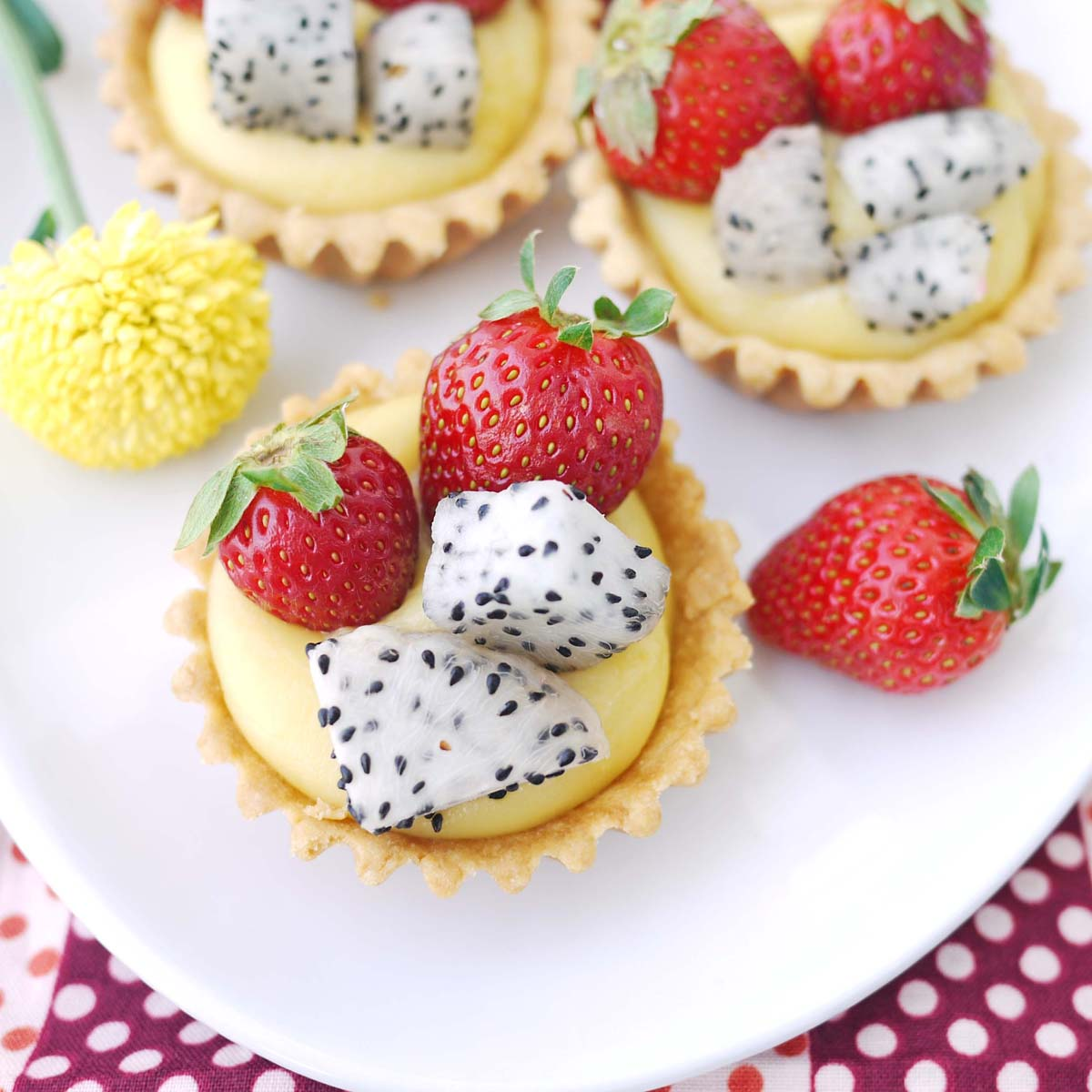 benefits of dragon fruit mini fruit tart recipe