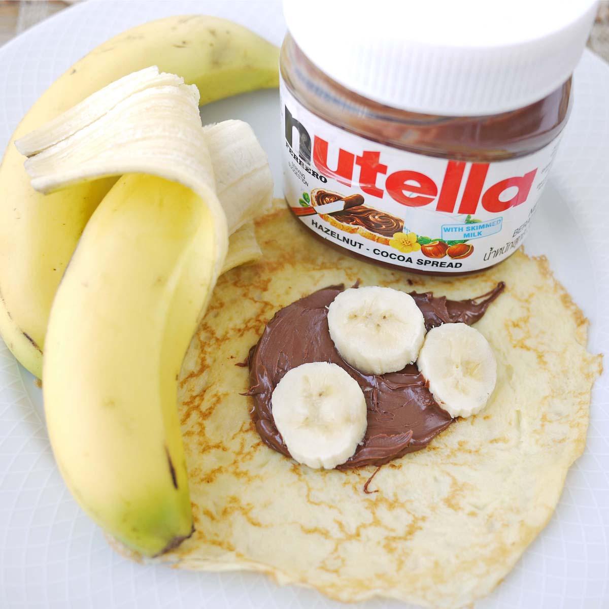 40 banana Nutella crepes 1