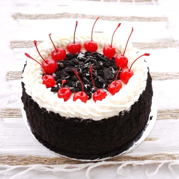 Oreo And Cherries On A Birthday Cake