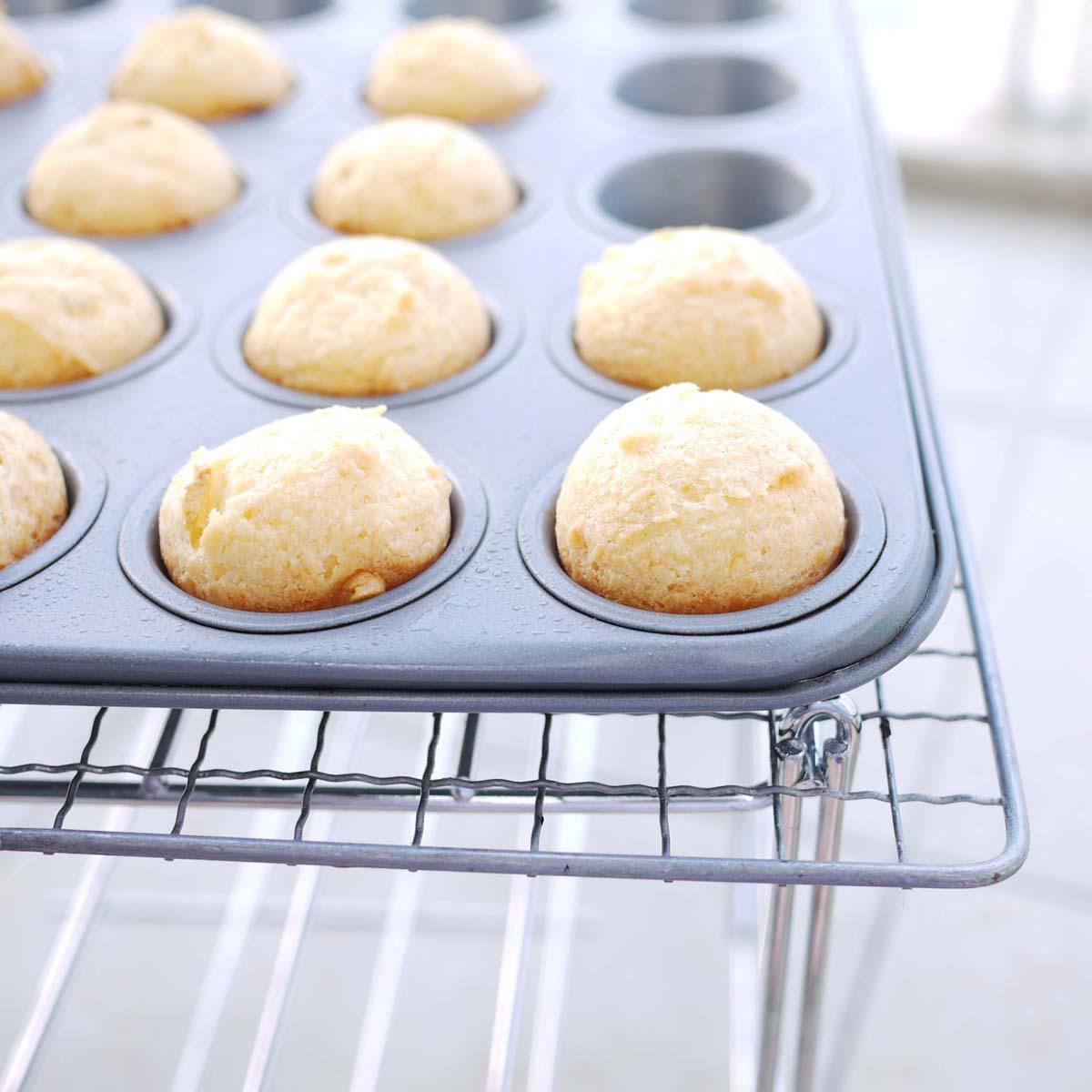 Pao de Queijo (Brazilian Cheese Bread) | Crustabakes