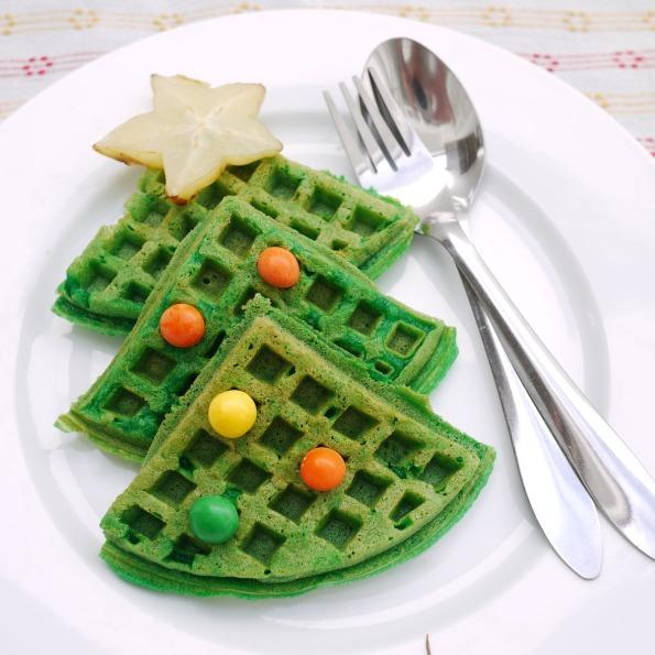 Christmas waffle 1
