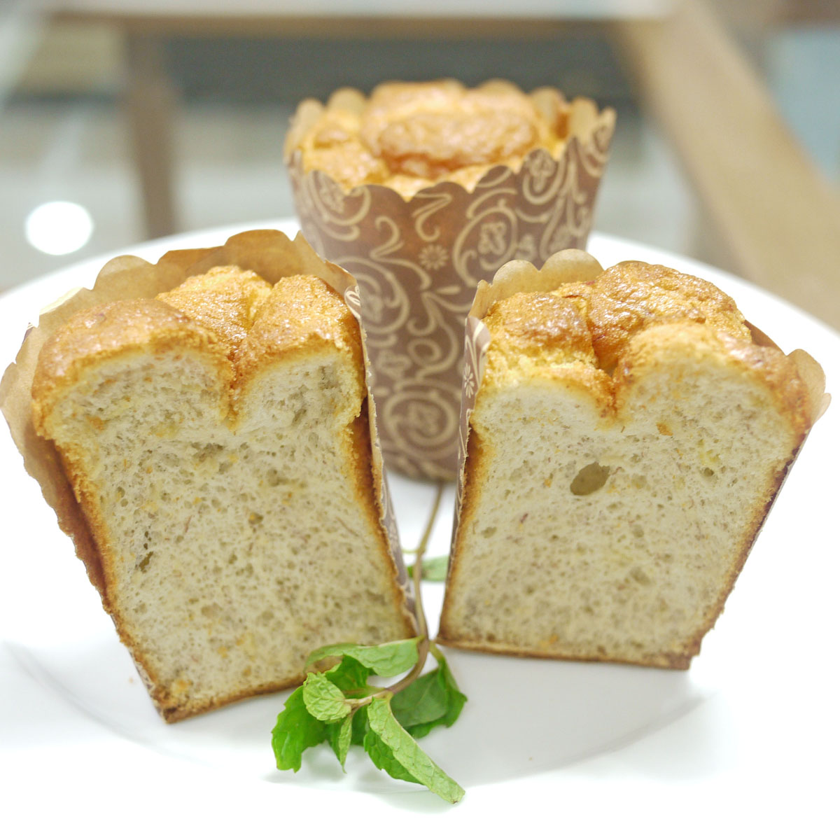 Gluten Free, Sugar Free, Banana Chiffon Cake | Crustabakes