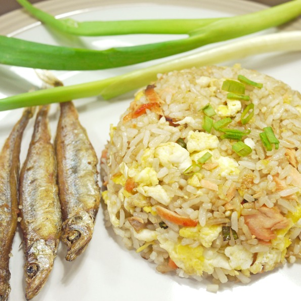 salmon fried rice 1c