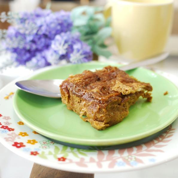 croissant bread pudding 1