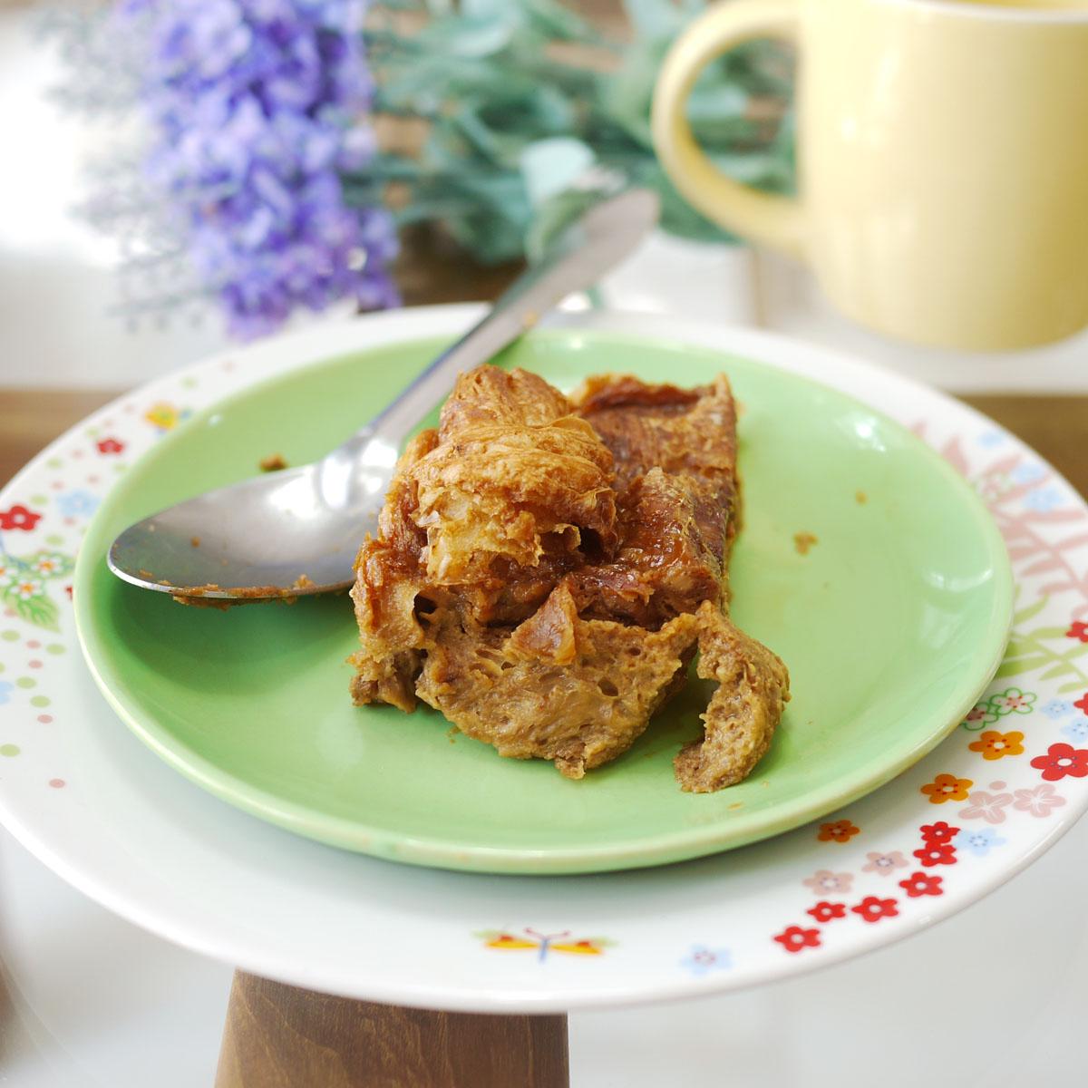 Nigella's Caramel Croissant Pudding | Crustabakes