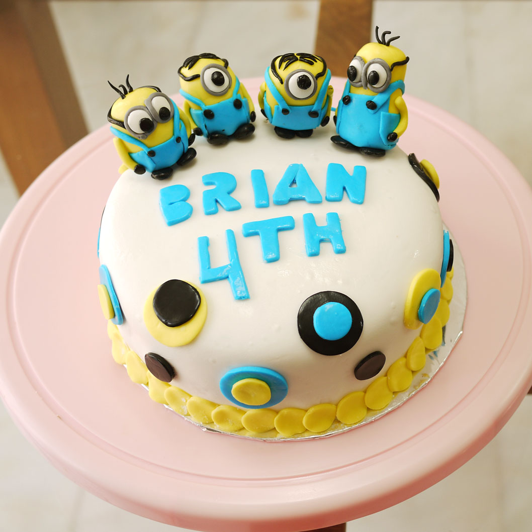 Minion Birthday Cake Crustabakes