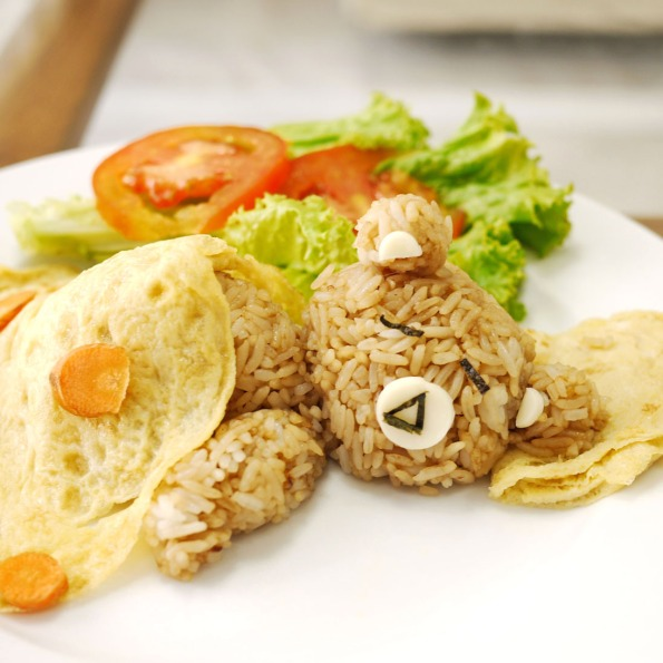 rilakkuma fried rice 4